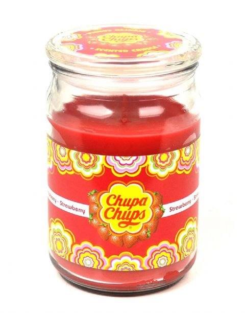 Strawberry Scented - Chupa Chups Large Jar Candle 130 Hours